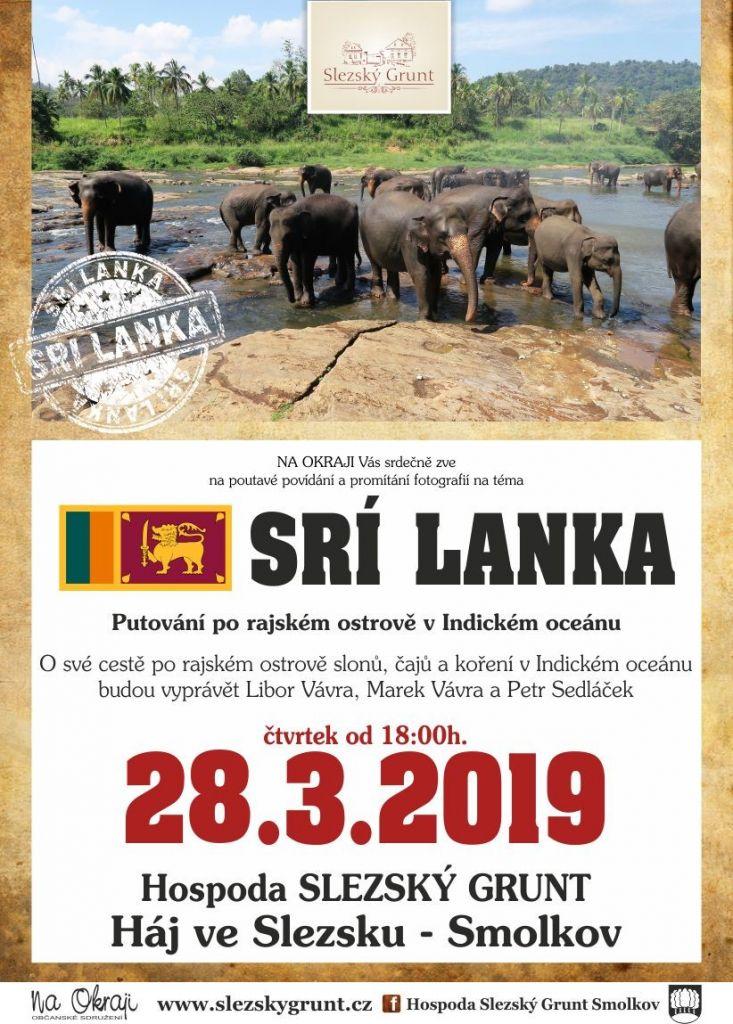 CESTOVATELSKÁ BESEDA - SRÍ LANKA 28.3.2019 OD 18:00 HODIN NA SLEZSKÉM GRUNTĚ 1